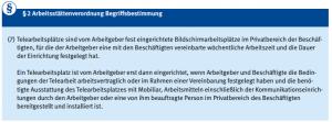 Arbeitsstättenverordnung § 2 (7)