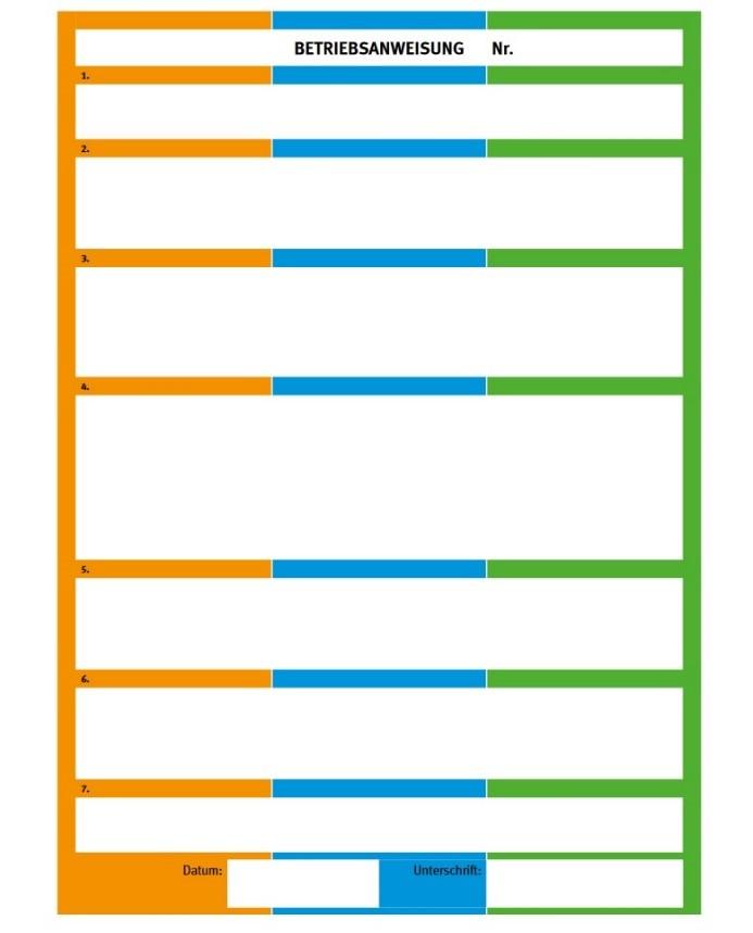 Betriebsanweisung drei Farben_DGUV